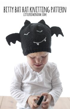 Get ready for Halloween with my new Bitty Bat Hat Knitting Pattern for newborns, babies and toddlers!