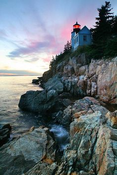 Bass Harbor Lighthouse, Maine by MelYW, via Flickr