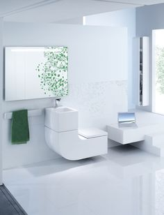 sink & toilet combo reuses waste water from the washbasin to fill the toilet cistern. very eco friendly!
