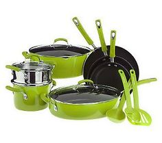 I want green pots and pans!