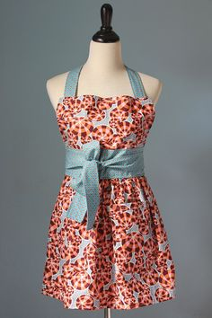 Bubbles Full Apron for Women with Anna Maria Horner Fabric. $32.00, via Etsy.