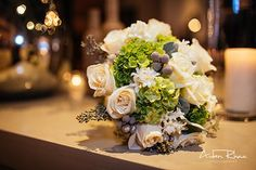 White and green flowers bouquet || Wedding Flowers