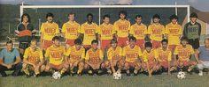 Cuiseaux-Louhans 1986-87. De gauche à droite, debout : Matiello, Mesa, J.L. Jacquinot, Corian, Donato, Blino, Stankovic, Moretto, Bricon, Abreu. Accroupis : Duriez (président), D. Jacquinot, Germain, T. Gianetta, Khirat, Zemb, Tournay, Bosque, Trabelsi, Lemesle, Le Lamer (entraîneur).