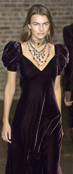 Ralph Lauren - bias cut velvet dress, perhaps not the sleeves