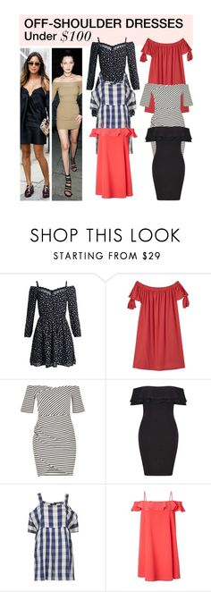 """Under $100: Off-Shoulder Dresses"" by polyvore-editorial ❤ liked on Polyvore featuring Superdry, MANGO, River Island, Miss Selfridge, Topshop, Zimmermann, under100 and offshoulderdress"