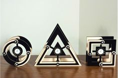 Geometric Laser Cut Clocks by Mark Ellingwood