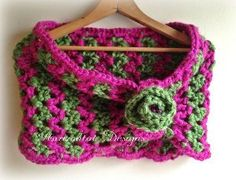 Zig Zag Watermelon Cowl. So cute for a tween I think. I wouldn't mind it in black and grey.