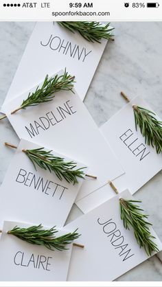 thanksgiving place cards!