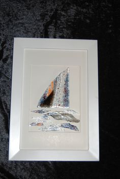 Art Glass: Abstract boat By Leigh Ellen Williams - leighwatessential@live.com