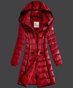 2013 New! Moncler Hermine Down Coats Womens Windproof Red