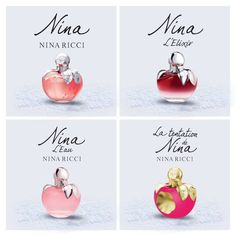Only tried one but the others have been recommended to me Nina Ricci Parfum, Perfume Collection, Blogger Themes, Body Spray, Body Care, Finding Yourself, Perfume Bottles, Place Card Holders, Ladies Perfume