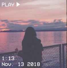 M O O N V E I N S 1 0 1      #vhs #aesthetic #sunset #pink #yellow #orange #clouds #sea #ocean #girl #pastel