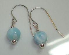 Larimar earrings