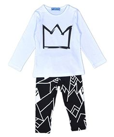 f392dd63 autumn Baby boys clothing set 2016 Cartoon Crown pattern t-shirt+Printed  harem pants boy set casual Children clothing set