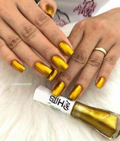 Nail Swag, Golden Nails, Nail Designer, Sexy Nails, Manicure, Nail Colors, Makeup, Diva Nails, Lady Nails