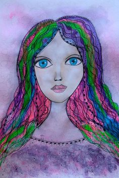 Buy Colored Hair, Mixed Media painting by Riana van Staden on Artfinder. Discover thousands of other original paintings, prints, sculptures and photography from independent artists. Paintings For Sale, Original Paintings, Mixed Media Painting, Colored Hair, Disney Characters, Fictional Characters, Aurora Sleeping Beauty, Sculptures, Hair Color