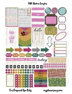 Various Colored Sticker Sampler | My Planner Envy