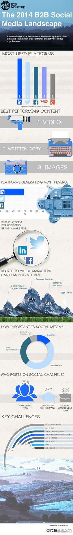 The 2014 B2B Social Media Landscape #Infographic #SpcoalMedia #B2B
