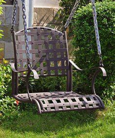 Santa Fe Iron Nailhead Single Patio Swing