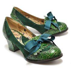 Green goddess footwear!