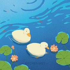 Animal Drawings, Cute Drawings, Duck Illustration, Arte Grunge, Duck Wallpaper, Cute Ducklings, Duck Art, Mini Canvas Art, Pretty Art