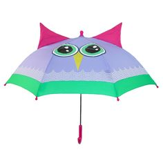 This adorable owl character umbrella is perfect for your little one. Not only is it super cute to carry around but the runner to open and close it is pinch-proof to prevent anyone from getting their fingers hurt. It is also very lightweight and easy to open