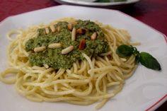 Paprika En La Cocina: Espaghetti al pesto di basilico