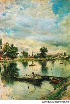 Boldini Giovanni - 'Paesaggio Fluviale'  GIOVANNI BOLDINI (Ferrara, 31 dicembre 1842 – Parigi, 11 gennaio 1931   #TuscanyAgriturismoGiratola