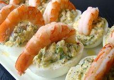 Oeufs farcis aux crevettes