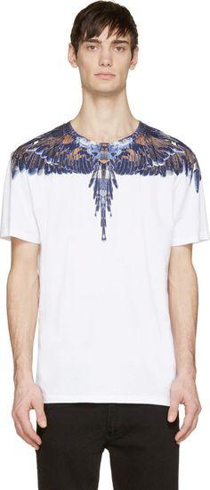 Blue & Brown Alas T-Shirt - Marcelo Burlon County of Milan