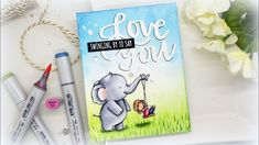Simple Scene and Heat Embossing Tips: Neat & Tangled 2019 Release Neat And Tangled, Coloring Tips, Copic Markers, Copics, Color Card, Stencils, Card Making, Greeting Cards, Paper Crafts