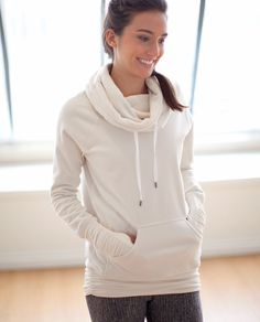 Lululemon hoodie with fleece on the inside. Would literally wear this every day. Even when it's 115 degrees.