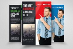 Corporate Business Flyers by Design Up on @creativemarket