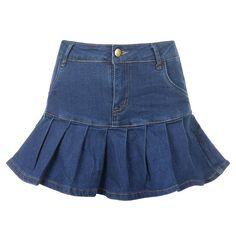 High Waist Jeans, High Waisted Skirt, Short Skirts, Mini Skirts, Jean Skirts, Stretch Denim Skirt, Preppy Style, Cotton Spandex, Light Blue