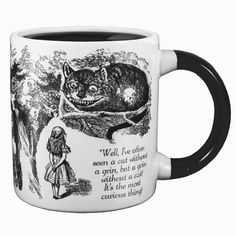 From the classic book Alice in Wonderland the disappearing Cheshire cat mug.
