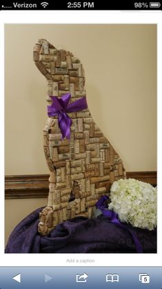 This is in my room actually, it's a statue of a lab made out of wine corks! Everyone loved my idea!