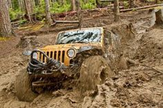 Off Road Evolution Jeep with Nitto Trail Grappler tires eating mud and making it…