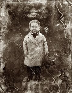 Tom Thumb, full-length portrait, facing front, standing on table. Half-plate daguerreotype c. 1850-55 from the studio of Mathew Brady.