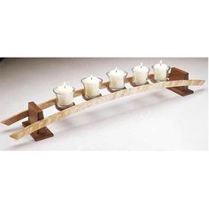 candles on a Curve Woodworking Plan