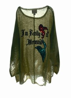 I would never wear this but I like the sparkly mermaid pattern