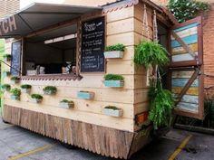 Resultado de imagen para food truck madera