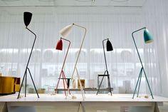 The Grasshopper floor lamp by Swedish-American designer and architect Greta Magnusson Grossman