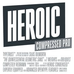 Heroic Compressed Pro #industrial #gothic #sanserif