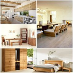 Naturholzmöbel Massivmöbel Zimmergestaltung Wohnideen