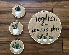 Together is my favorite place to be, succulent sign, burlap decor