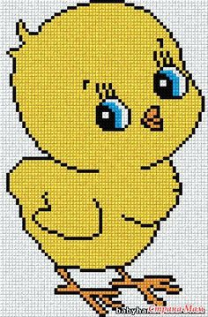 Diy Crafts - This Pin was discovered by Mfi Baby Boy Knitting Patterns, Baby Cross Stitch Patterns, Cross Stitch Borders, Cross Stitch Charts, Cross Stitch Designs, Xmas Cross Stitch, Cross Stitch For Kids, Cross Stitch Embroidery, Chicken Cross Stitch