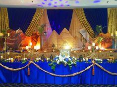 Egyptian theme mitzvah decor decorations.