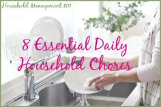 Daily House Cleaning Schedule For Homes With Children