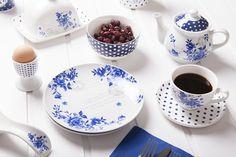 Kolekcja porcelany Indigo Rose