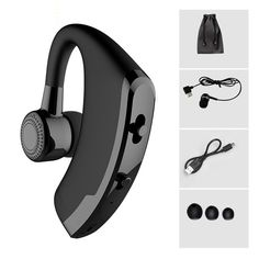 Buy US $10.13  Handsfree Business Bluetooth Headset Earphone Wireless Voice Control Sports Music Bluetooth Headphones Noise Cancelling Earbud  Get discount for product: Xiaomi